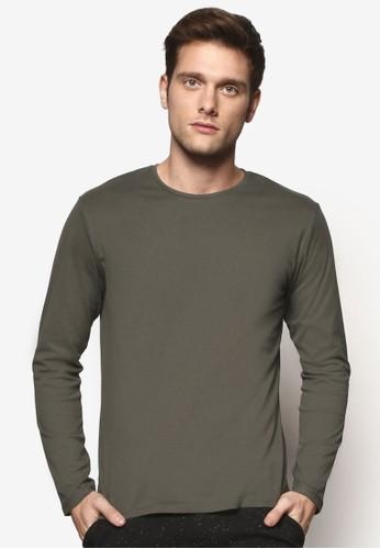esprit hong kong 分店簡約圓領長袖衫, 服飾, T恤
