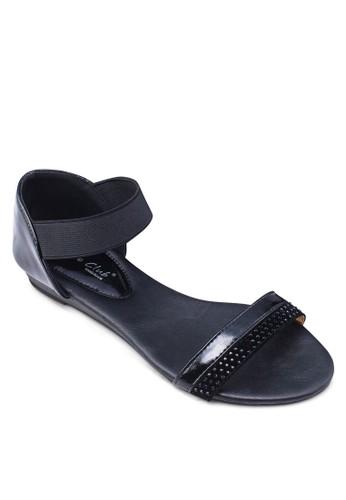 雙色包esprit 品牌跟涼鞋, 女鞋, 鞋