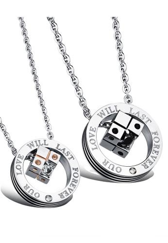 Trendyshop silver Couples Pendant Necklace 1 Set 615ABACEF7B7B7GS_1