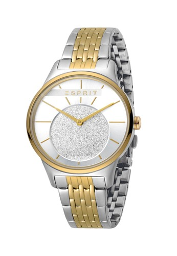Esprit Watches gold and silver ESPRIT Men Silver Glitter Dial 12357ACFDA614AGS_1