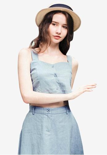 Sesura blue Hip Sweetheart Crop Top 7E843AABA59A23GS_1