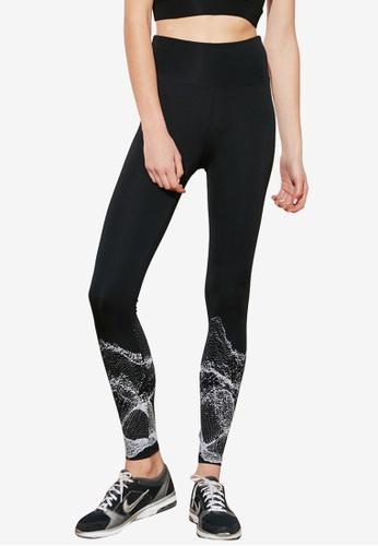 Trendyol black Snakeskin Pattern Leggings 69897AADE5CE1DGS_1