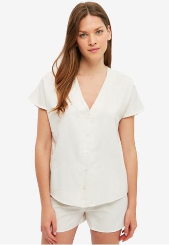 Trendyol white Woven Pyjama Set B4262AA5E2E5A8GS_1