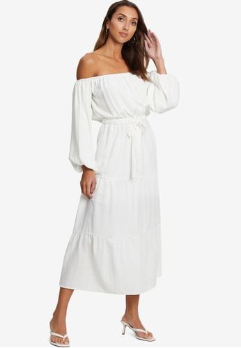 Tussah white Loni Midi Dress 38E70AA11C4407GS_1