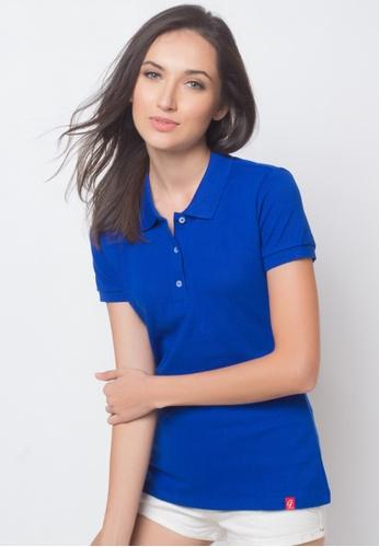 Guitar blue Solid-toned Polo Shirt GU661AA87AJGPH_1