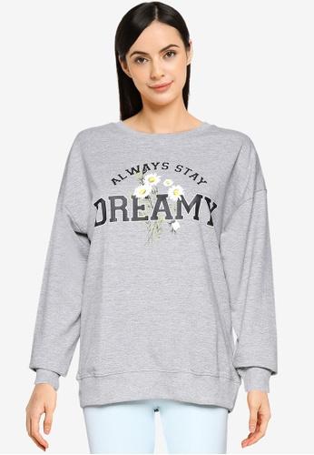 Springfield grey Dreamy Sweatshirt 932B6AABC98573GS_1