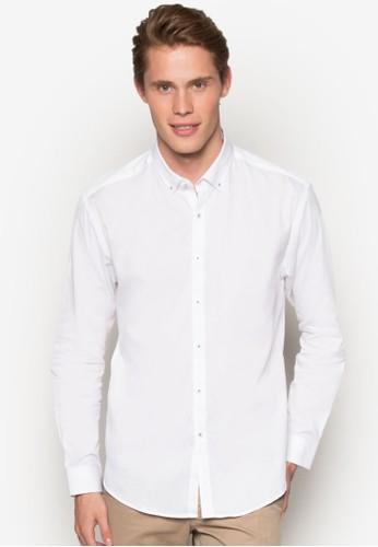 純棉長esprit 衣服袖襯衫, 服飾, 襯衫
