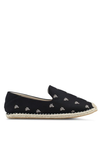 JAXON black Cactus Embroidered Cotton Espadrilles FB512SH679564AGS_1