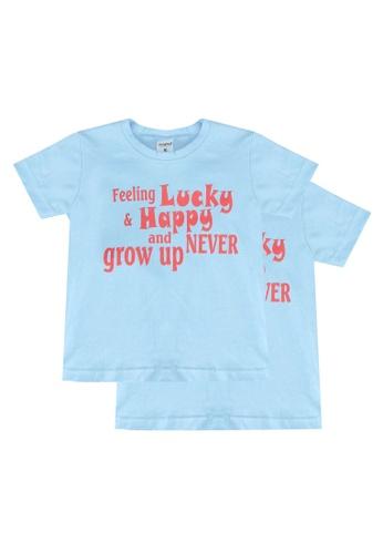 UniqTee blue Feeling Lucky Tee 2-Pack CBB2DKAE365933GS_1