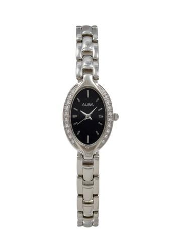 Alba silver ALBA Jam Tangan Wanita - Silver Black - Stainless Steel - AC3R79 4592AACC917883GS_1