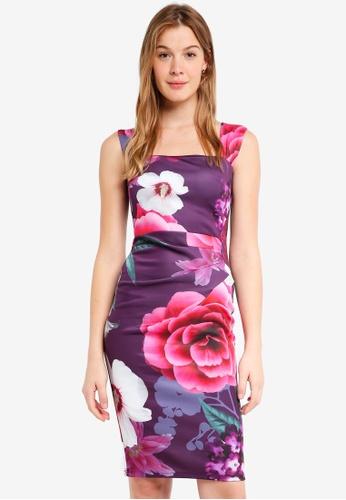 Dorothy Perkins purple Purple 'Lara' Bodycon Dress 1F399AA9DC1F72GS_1