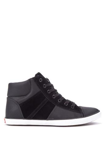 Italianos black Noah High-Cut Sneakers IT153SH37SHIPH_1