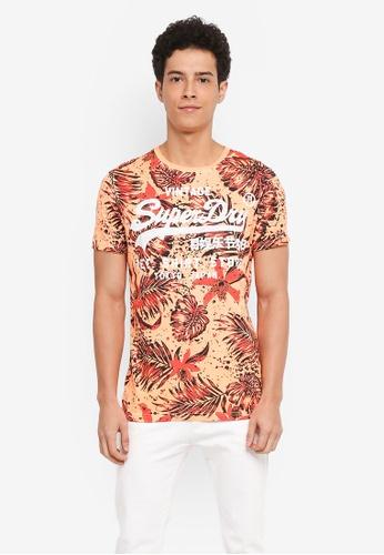 Superdry orange Shirt Shop Lite Tee 41825AAD369BCFGS_1