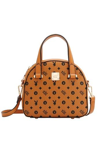 PLAYBOY BUNNY brown Women's Hand Bag / Top Handle Bag / Shoulder Bag E778FAC7058048GS_1