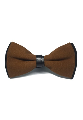 Splice Cufflinks brown Sassy Series Brown Cotton Pre-tied Bow Tie SP744AC95FIISG_1