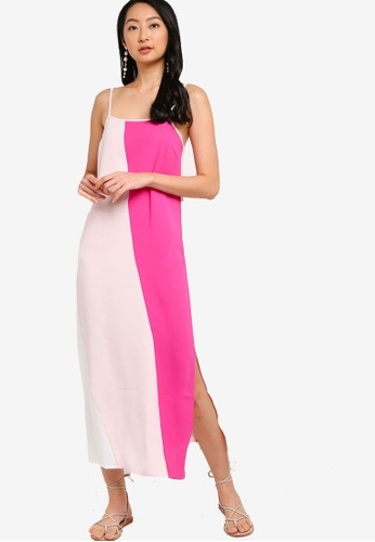 ZALORA BASICS multi Colourblock Cami Maxi Dress B1BF9AAC6CF20EGS_1