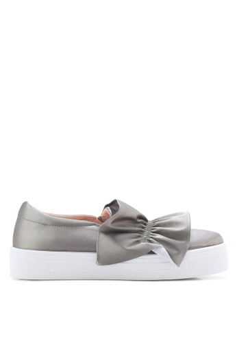TOPSHOP grey Tawny Ruffle Slip On Trainers TO412SH81YPIMY_1