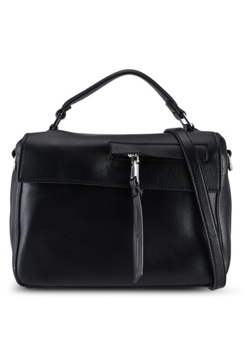 Unisa black Faux Leather Convertible Top Handle Bag E94FBACEC34AA7GS_1