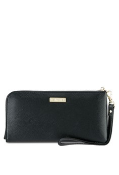 Image of Faux Leather Clutch Wristlet