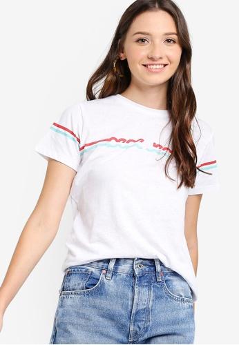 0dcfb099c4c2e0 Shop Pepe Jeans Lola Logo T-Shirt Online on ZALORA Philippines