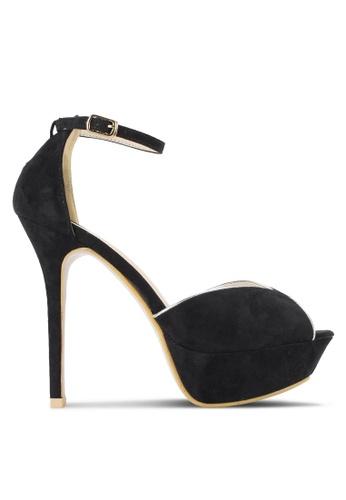 St3p black Plarform Heels with Ankle Strap ST395SH73LWGMY_1