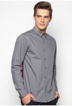 Color Blocking All-Day Long Sleeves Shirt