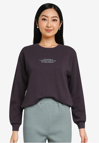 LOWRYS FARM grey Printed Sweatshirt 79534AA98793F6GS_1