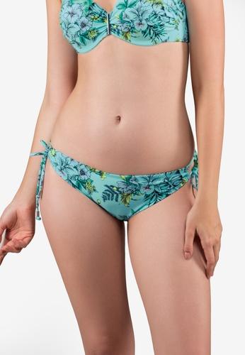 Dorina blue and multi Sea Breeze Tie Side Bikini Brief Bottom 7DDAAUS3A6019CGS_1