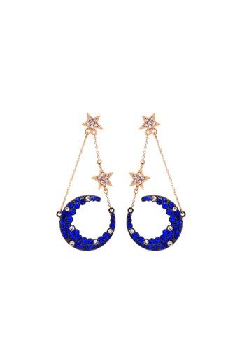 Sunnydaysweety blue Blue Star Moon Earrings CA060338 FB7A7AC82AEEDBGS_1