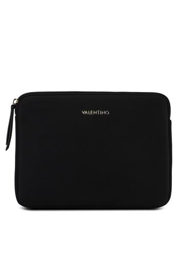 VALENTINO by Mario Valentino black Iconic Logo Laptop Case EEEB2AC9D53F25GS_1