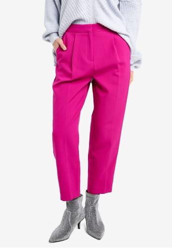 TOPSHOP pink Split Hem Clean Peg Trousers TO412AA0SZ70MY_1