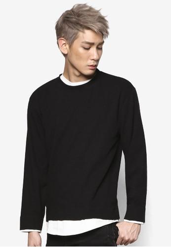 假兩件混棉長袖衫, 服飾, 外esprit macau套