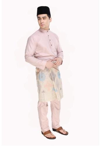 Amar Amran pink Baju Melayu Moden CD68EAA7E1D344GS_1