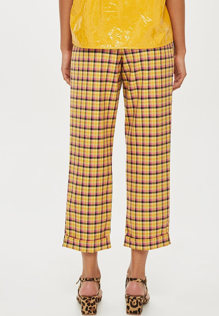 Check Yellow Trousers TOPSHOP Check TOPSHOP 7qw6BE0R