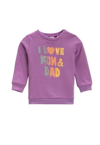 KOTON purple Cotton Graphic Sweatshirt 398CCKA1BF6017GS_1