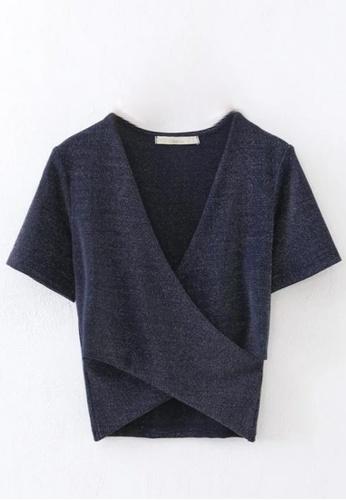 Sunnydaysweety blue Simple Net Colour Fit Style Top C030905BL SU219AA0HA8YSG_1
