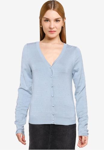Vero Moda blue Newglorymisa V-neck Cardigan B46D5AA02EC5F8GS_1
