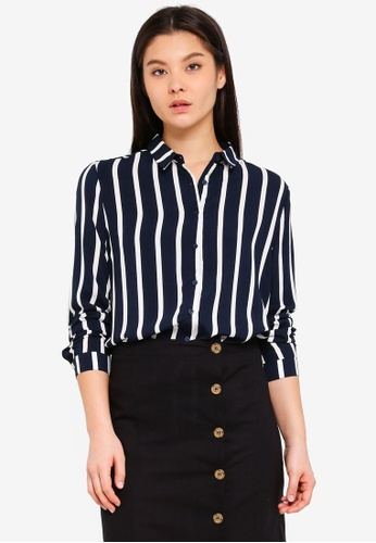 Cotton On blue and navy Rebecca Shirt 1EAA3AAC69484DGS_1