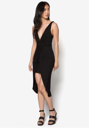 Naesprit 尖沙咀talie 低胸扭結洋裝, 服飾, 派對洋裝