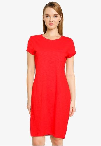 GAP red V-Ss Pocket Tee Dress BCB5AAAEDDE7A1GS_1