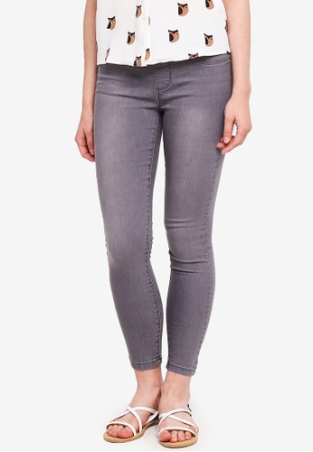 Dorothy Perkins grey Petite Grey Eden Jegging Jeans 47CA6AA7F73B7AGS_1