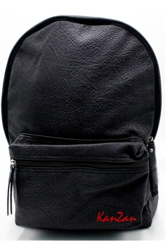 Modish Kanzan High Quality Leather Backpack (Black)
