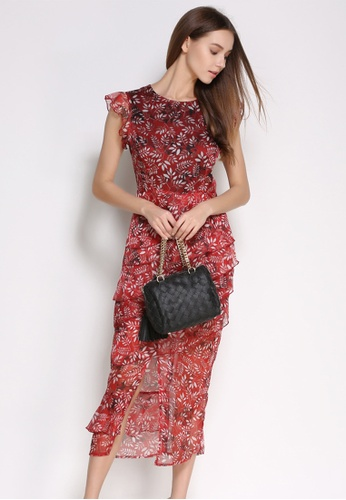 Buy Sunnydaysweety Elegant Slim Cut Floral Short Sleeves One Piece Dress  UA062209 Online on ZALORA Singapore 6e50af814