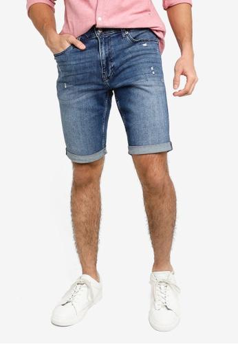 Hollister blue Super Skinny Denim Shorts 7A8D1AA89489EBGS_1