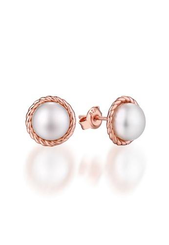 SUNSET 金色 Premium 925 Sliver Pearl Earring 125BDAC06BBBDDGS_1