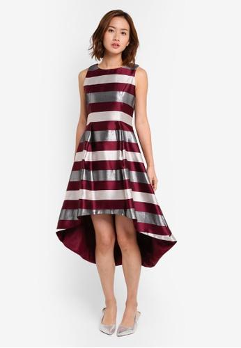 Megane red Red Romance Romaine Hi-Low Dress ME617AA0SZWRMY_1
