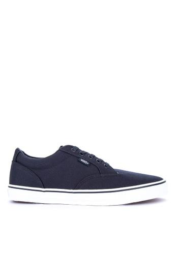 VANS navy Canvas Winston Sneakers 74151SHBBB8040GS_1