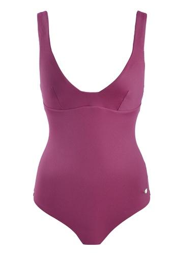 Sunseeker red Solids One-piece Swimsuit 98BEFUSB762196GS_1