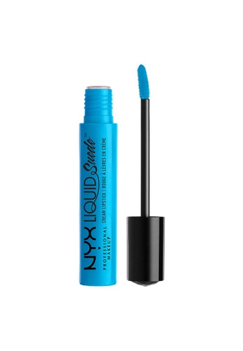 NYX Professional Makeup blue NYX Professional Makeup Liquid Suede Cream Lipstick - LIL DENIM DREAMS FCACDBEBF4E385GS_1