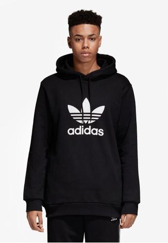 adidas black adidas originals trefoil hoodie AD372AA0SUNAMY_1